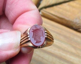 Carnelian Intaglio Wax Seal Ring