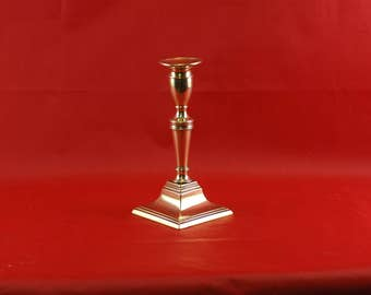Federal Period Brass Push Up Candle Stick