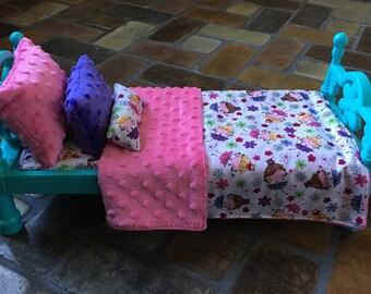 "Doll Bedding/18"" Inch Doll Bedding/Fairy Doll Bedding"