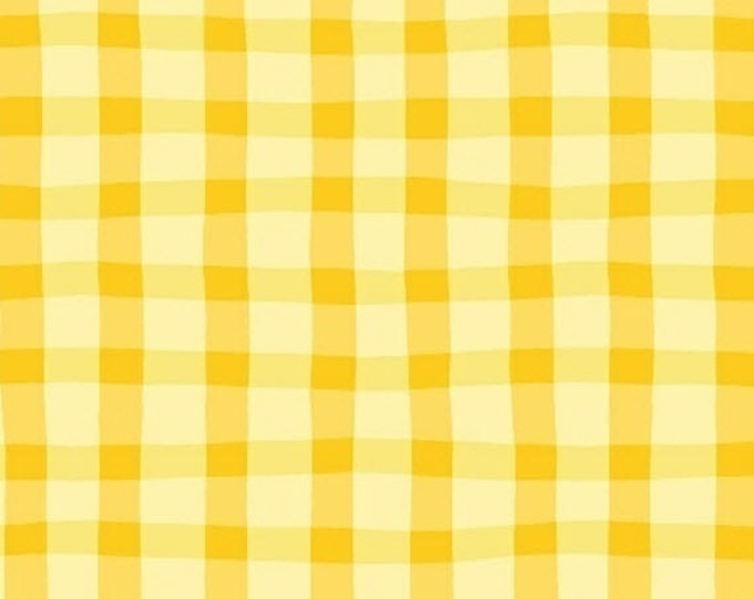 Half Yard Animal ABCs - Plaid in Yellow - Cotton Quilt Fabric - by Whistler Studios for Windham Fabrics - 41326-3 (W3591)