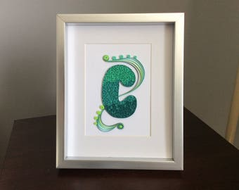 Paper quilled letter
