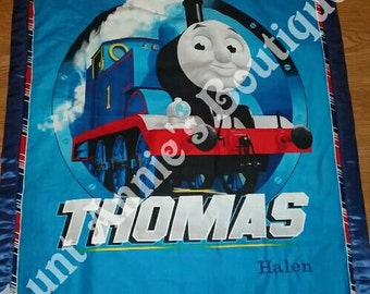 Thomas the Train personalized silky edge blanket