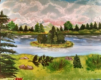 Acrylic painting. Summertime Art collectible 11x14 OOAK unique