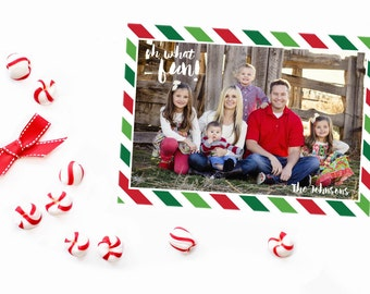 Christmas Photo Card - Oh what fun Christmas Card - Personlized Holiday Card - Digital Christmas Card - Photo Holiday Card - Christmas Card