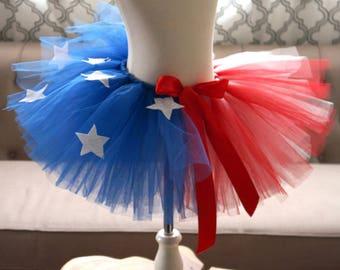 Girl USA Tutu - Kid's USA Tutu - 4th of July Tutu - Forth of July Tutu - American Flag Tutu