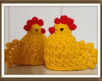 Handmade Crochet Easter Chick Egg Cosies, Pair, Easter Gift, Free Postage!