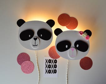 Lamp for bedrooms and nursery panda
