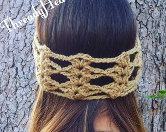 Angelic Lace Crochet Headband