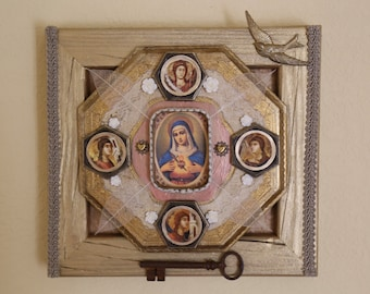 Our Lady of Tenderness - Found Object Assemblage