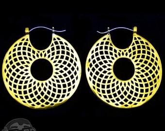 18G Symmetrical Brass Earrings / Ear Weights