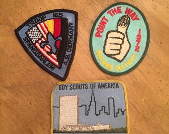 Boy Scout patches/vintage boy scout