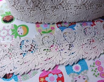 1 yard  Vintage style Cotton Crochet Lace Trim 9cm wide #