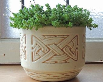 "Weller Pottery Jardiniere Planter ""Clinton Ivory"" Antique 1914"