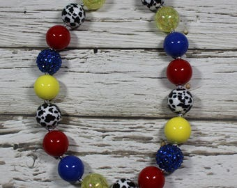 NEW Assorted Style Cow Bead Chunky Bubble Gum Bead Boutique Necklaces