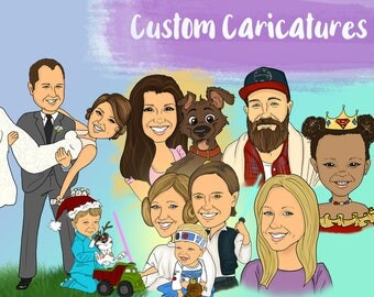 Custom-Personalized-Caricature-Drawing-Wedding Gift-Gag Gift-Birthday-Anniversary-Characters-Digital-Engagement-Present-Cartoons-Wedding-Fun
