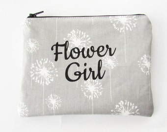 Flower Girl Bag - Makeup Bag - Personalized Makeup Bag - Cosmetic Bag - Toiletry Bag - Wallet - Small