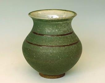 Ceramic vase, turquoise vase, blue vase, green vase, handmade, stoneware
