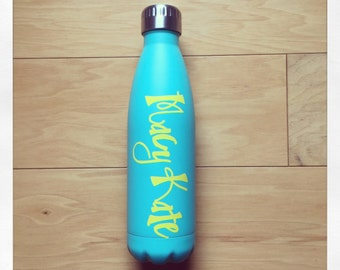Personalized 17oz Thermal Bottle {Teal}