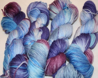Superwash Hand Dyed Sock Yarn:  Siren's Song