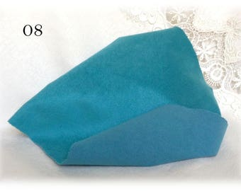 SIMILSUEDE double sided Miniature Teddy Bear Fur for paws ears shoes col. 08 TURQUOISE teddy bear making supplies