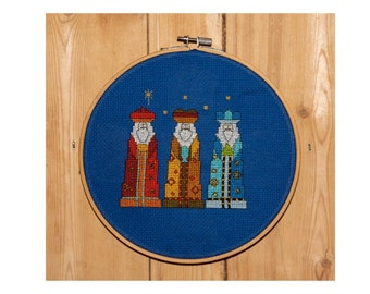 We Three Kings Christmas Cross Stitch Pattern PDF ** Instant Download **