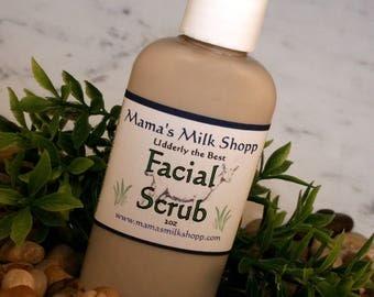 Farm Fresh Goats Milk - Facial Scrub - Moisturizer - Gluten Free Bath Product - Made in Wisconsin
