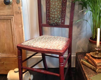 Vintage occasional inlay chair