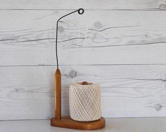 Vintage Wood String Dispenser, Vintage Twine Dispenser, Vintage String Holder, Vintage String Holder