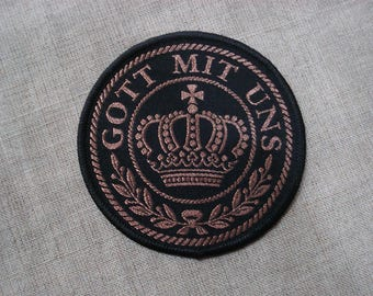 Gott Mit Uns (God with us) woven patch