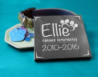 Granite Pet Memorial in Various Sizes and Shapes-- Customize for your Pet! (Forever Remembered)
