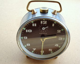 Vintage KIENZLE Alarm Clock Germany/ Retro clock/Old clock/Working clock/ Retro Home/1960s