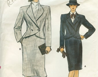 Vogue 8845 Misses Jacket and Skirt Sewing Pattern