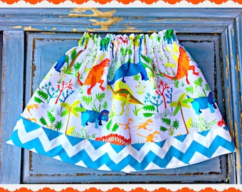 girls Dinosaur skirt 2T 3T 4T 5T 4/5 6/6X 7/8 10/12 14/16 ready to ship