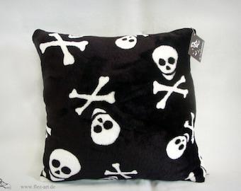 fluffy Skull pillow