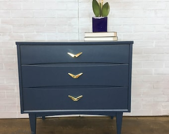 AVAILABLE: Blue Painted Nightstand