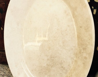 ANTIQUE// Jeanne de Arc// W S GEORGE// Tea Stained// Ironstone// Large Platter// Awesome Shabby Chic Condition!
