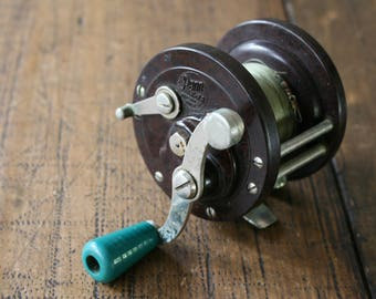 Penn No.78 Fishing Reel Bakelite Tackle Fathers Day Gift for Men Vintage Beach House Seaside Decor Angling Made in USA