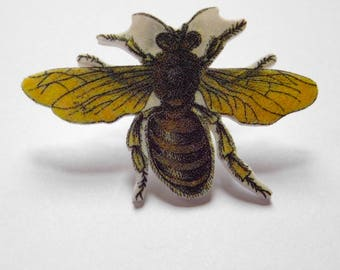 Waggle Dancing Honey Bee Brooch Waggle Dancing Honeybee Tie Tack Pin