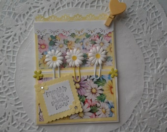 Gift set specialty friendship card/gift card holder with matching planner clips Easter Mother's Day birthday