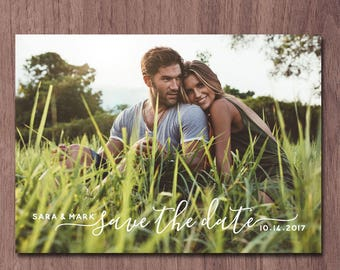 Save the Date Photo Card Photo Save the Date Postcard Wedding Invitation Announcement Modern Save the Date Card Save Our Date Save the Dates