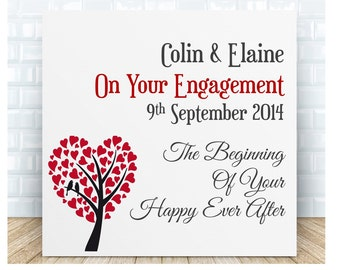 On Your Engagement Ceramic Plaque.  Personalised