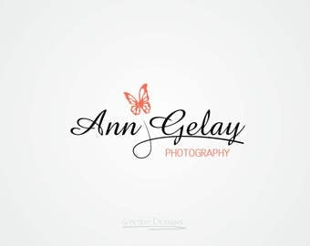 Butterfly Logo. Premade logo and Photography logo - Watermark