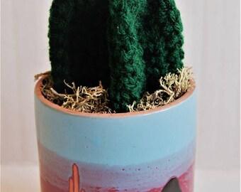 A Serious Cereus | Crocheted Succulent / Cactus