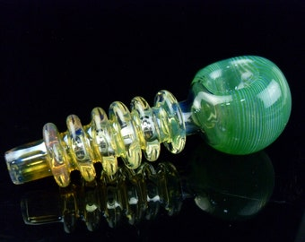 Green Spectrum Lolly Variety - medium novelty glass pipe