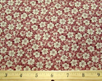 Sale!! Dusty Rose Pink Calico Quilting Fabric By the Yard