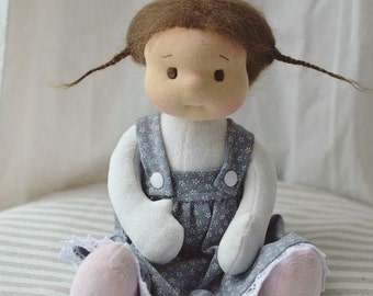 "Elena, waldorf doll 12"" Made to order by Calinette"