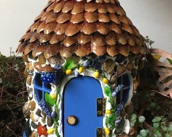 Fairy House, Homemade Fairy Garden House, Red Fox Cottage