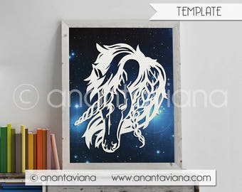 Papercut Template Commercial | Unicorn | Commercial Use | Design by Anantaviana