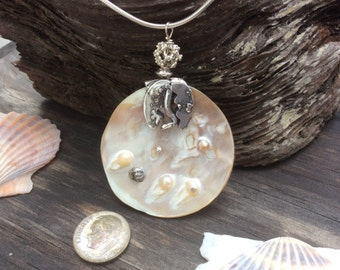 Blister Pearl with Sterling Silver Setting