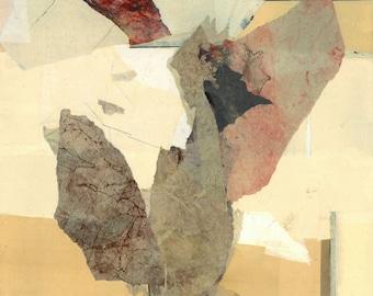 "Original abstract paper-collage,""Fata Morgana"", 18""x14"""